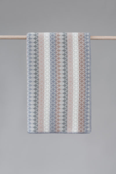Maske blanket in the colour Light sky blue - back