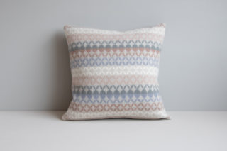 Maske cushion with asymmetrical pattern in the colour Light Sky Blue